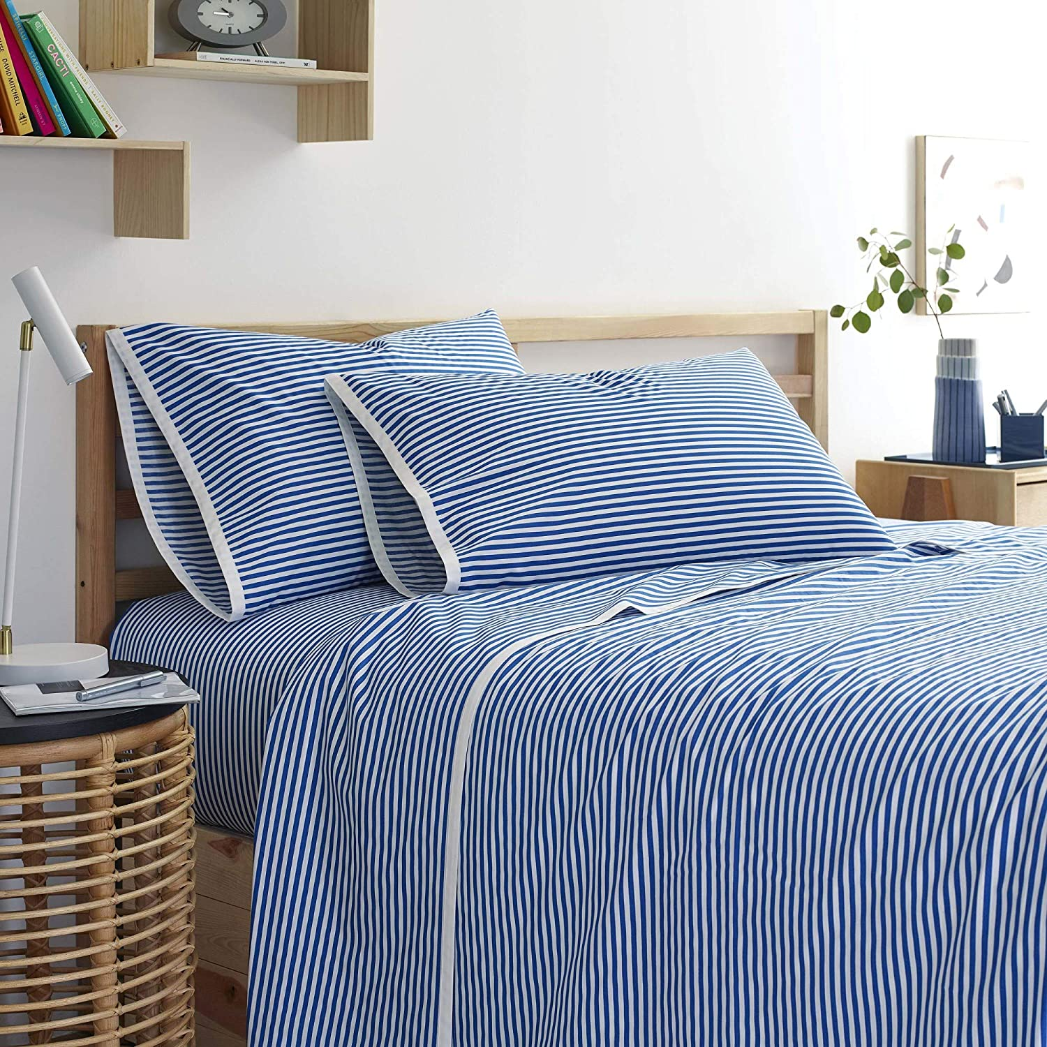 Martex Super sale Clean AF Pinstripe Cotton Antimi Set 67% OFF of fixed price SILVERbac with Sheet