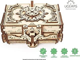 Antique Box Ugears, 3D Mechanical Treasure Models, Self-Assembling Precut Wooden Gift, DIY Craft Set