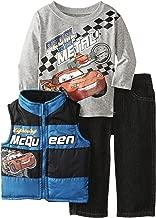 Disney Baby Boys' Cars Three Piece Shirt Vest and Jean Set