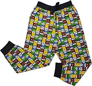 Mens Official Marvel Avengers Loungepants | Mens Loungewear All Over Print Pyjama Bottoms, Size Small - X-Large