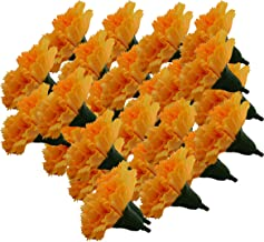 Fourwalls Artificial Decorations Loose Carnation Flower Heads (Pack of 144 Pcs, Yellow)