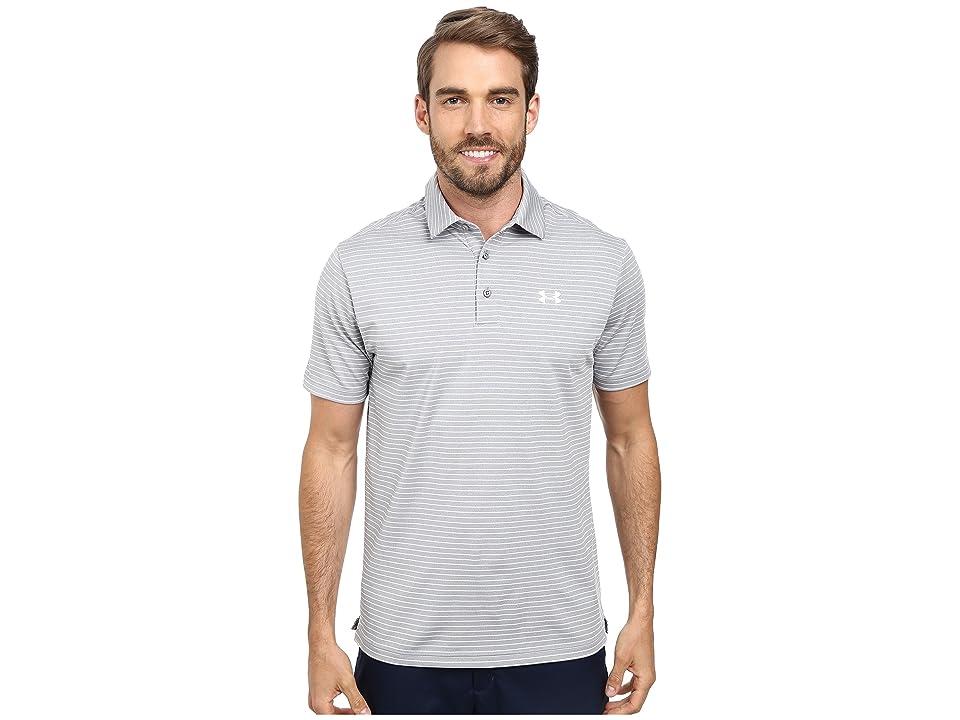 Under Armour Golf UA Playoff Polo (True Gray Heather/White/White) Men