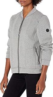 Calvin Klein Women's Zip Front Scuba Bomber Jacket, LGY