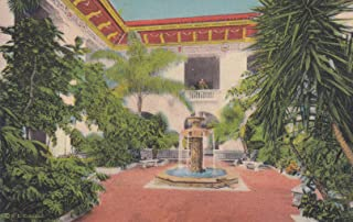 295VINT02 A 1934 PATIO AND AZTEC FOUNTAIN, PAN-AMERICAN UNION, WASHINGTON, D.C. COLLECTIBLE VINTAGE 1934 POSTCARD, ANTIQUE POST CARD from HIBISCUS EXPRESS