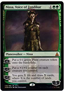 Magic SDCC 2016 The Gathering Exclusive Planeswalker Zombie Nissa, Voice of Zendikar Foil Card