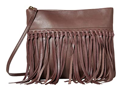 The Sak Tomboy Convertible Clutch by The Sak Collective (Mahogany Fringe) Clutch Handbags