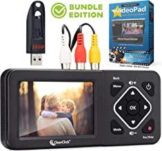 ClearClick Video to Digital Converter 2.0 (نسل دوم) - ضبط ویدئو از VCR ، نوارهای VHS ، AV ، RCA ، Hi8 ، دوربین فیلمبرداری ، DVD ، سیستم های بازی (نسخه Bundle)