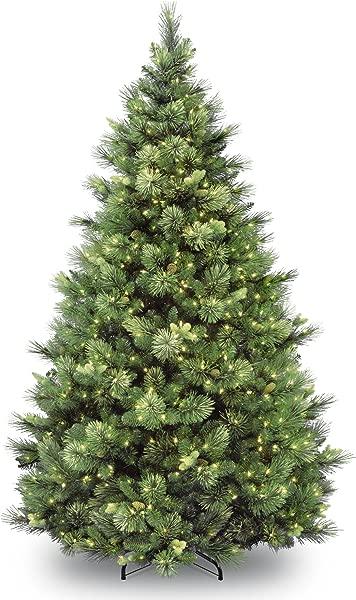 National Tree 6 5 Ft Carolina Pine Tree With Clear Lights