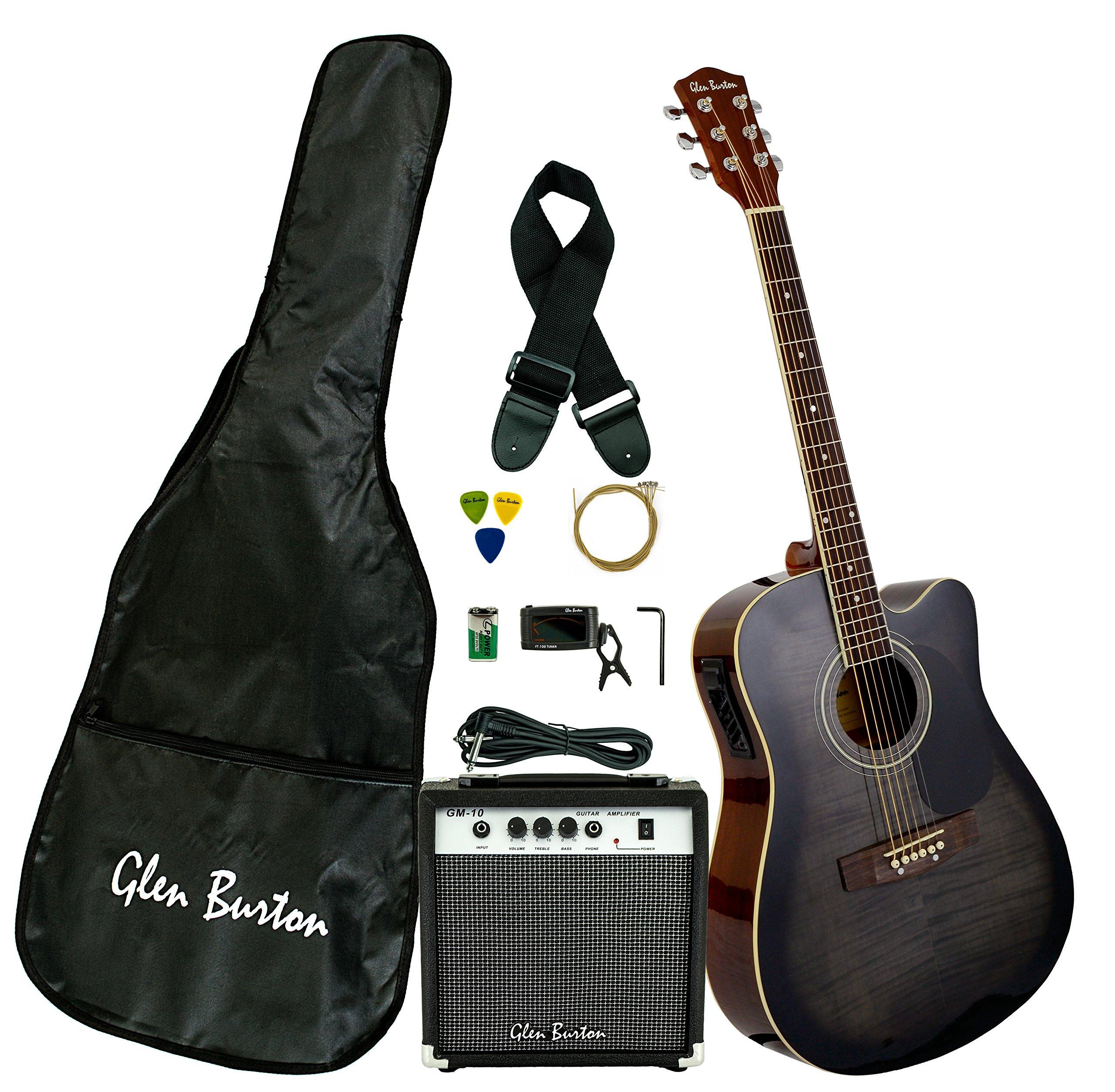 Glen Burton GA204BCO BK Acoustic Electric