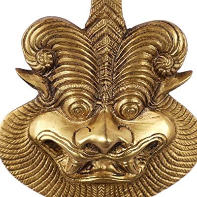 Two Moustaches Yali Brass Wall Hanging | Evil Eye Protector | Home Decor |