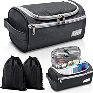 08bd1cea30 Travel Toiletry Bag – Small Portable Hanging Cosmetic Organizer for Men    Women