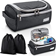 Travel Toiletry Bag – Small Portable Hanging Cosmetic Organizer for Men Women, Makeup,..