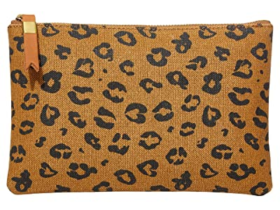 Madewell Canvas Pouch Clutch (Dried Cedar Multi) Handbags