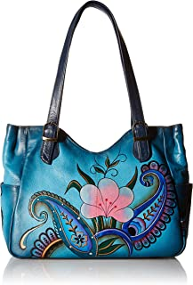 Anna by Anuschka Women's Genuine Leather Shoulder Bag | Hand-Painted Original Artwork