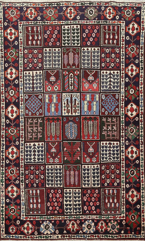 Garden Sacramento Mall Design Geometric Bakhtiar Oriental Safety and trust Wool Handmade Rug Area