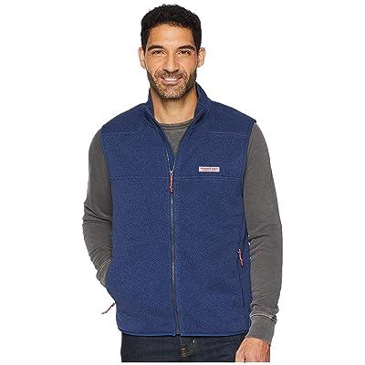Vineyard Vines Sweater Fleece Shep Shirt Vest (Deep Bay) Men