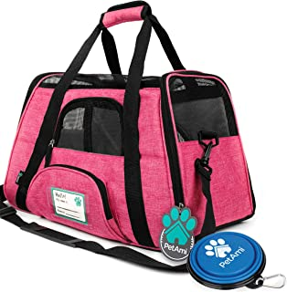 PetAmi Premium Airline Approved Soft-Sided Pet Travel Carrier | Ventilated, Comfortable..