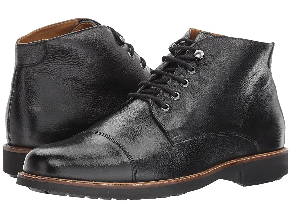 Massimo Matteo 5-Eye Chukka Cap Boot (Black) Men