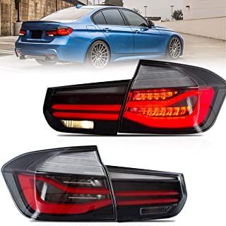 VLAND Tail lights Assembly Fit for BMW 3 Series F30 2013-2018, Taill Lamp assembly with Sequential Turn Signal, Reverse Lights, LED DRL light, Plug-and-play,Clear