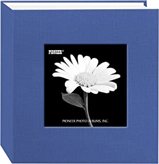 Pioneer 100 Pocket Fabric Frame Cover Photo Album, Sky Blue