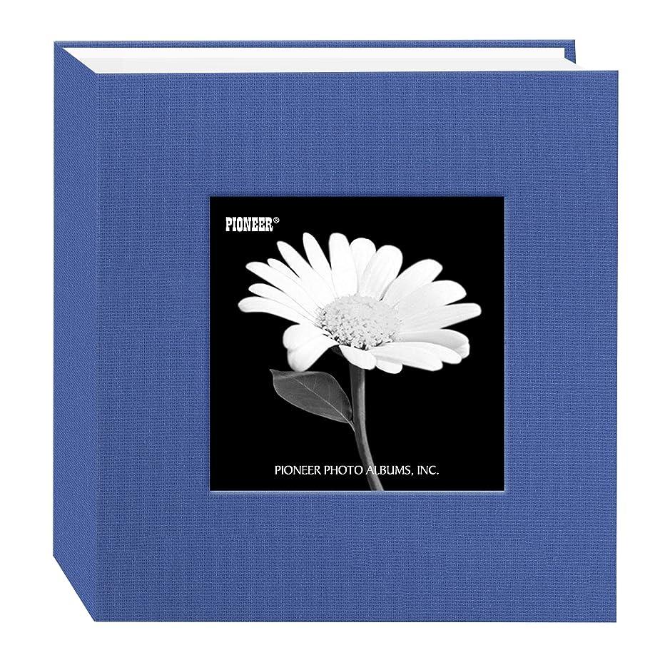 Pioneer 100 Pocket Fabric Frame Cover Photo Album, Sky Blue
