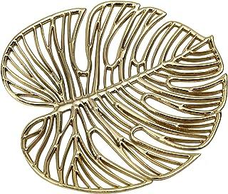علبة مجوهرات مجوفة من جيفت جيفت جيفت مونستيرا لتزيين المنزل والمجوهرات، والإكسسوارات الصغيرة، والمفاتيح (ذهبية / 5 × 5.5 ب...