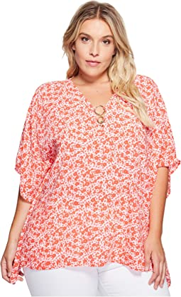 Plus Size Lydia Ring Flutter Top