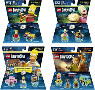 The Simpsons Homer Simpson Level Pack + Bart Simpson + Krusty + Scooby Doo Team Pack - Lego Dimensions (Non Machine Specific)