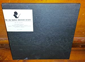 The Sir Thomas Beecham Society (The 1975 Edition) Lollipops, Beethoven 7th Symphony & Encores, Great Elopement Suite & Piano Concerto (4 LP Box Set) WSA 517/20