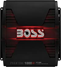 BOSS Audio PT1000 2 Channel Car Amplifier - 1000 Watts, Full Range, Class A/B, 2-8 Ohm Stable, Mosfet Power Supply, Bridgeable