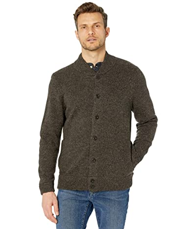 Pendleton Shetland Cardigan (Dark Brown Mix) Men