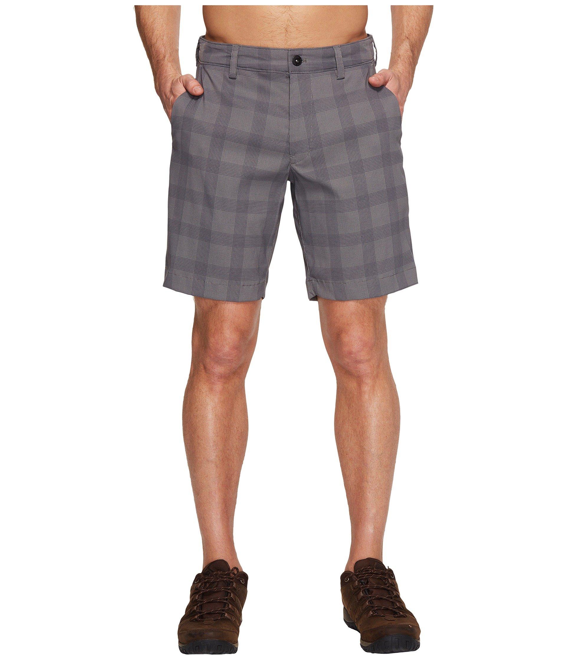 Rockaway Shorts, Zinc Grey Plaid (Prior Season)