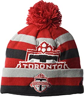 NBA Portland Trail Blazers Men's Standout Cuffed Knit Hat with Pom, Red, One Size