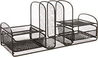 $31 » Safco Products Onyx Mesh 3 Sorter/2 Drawer Desktop Organizer 3263BL, Black Powder Coat Finish, Durable Steel Mesh Construc...