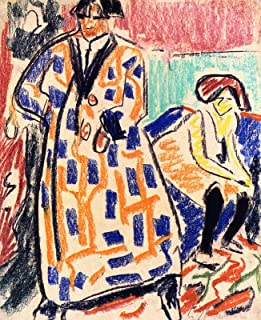 Aenx Ernst Ludwig Kirchner - Self-Portrait with Model Drawing Private collection 30