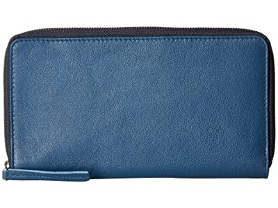 ECCO Casper Travel Wallet (Retro Blue) Wallet Handbags