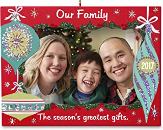 Hallmark Keepsake 2017 Our Family Greatest Gifts Picture Frame Adorno de Navidad con fecha