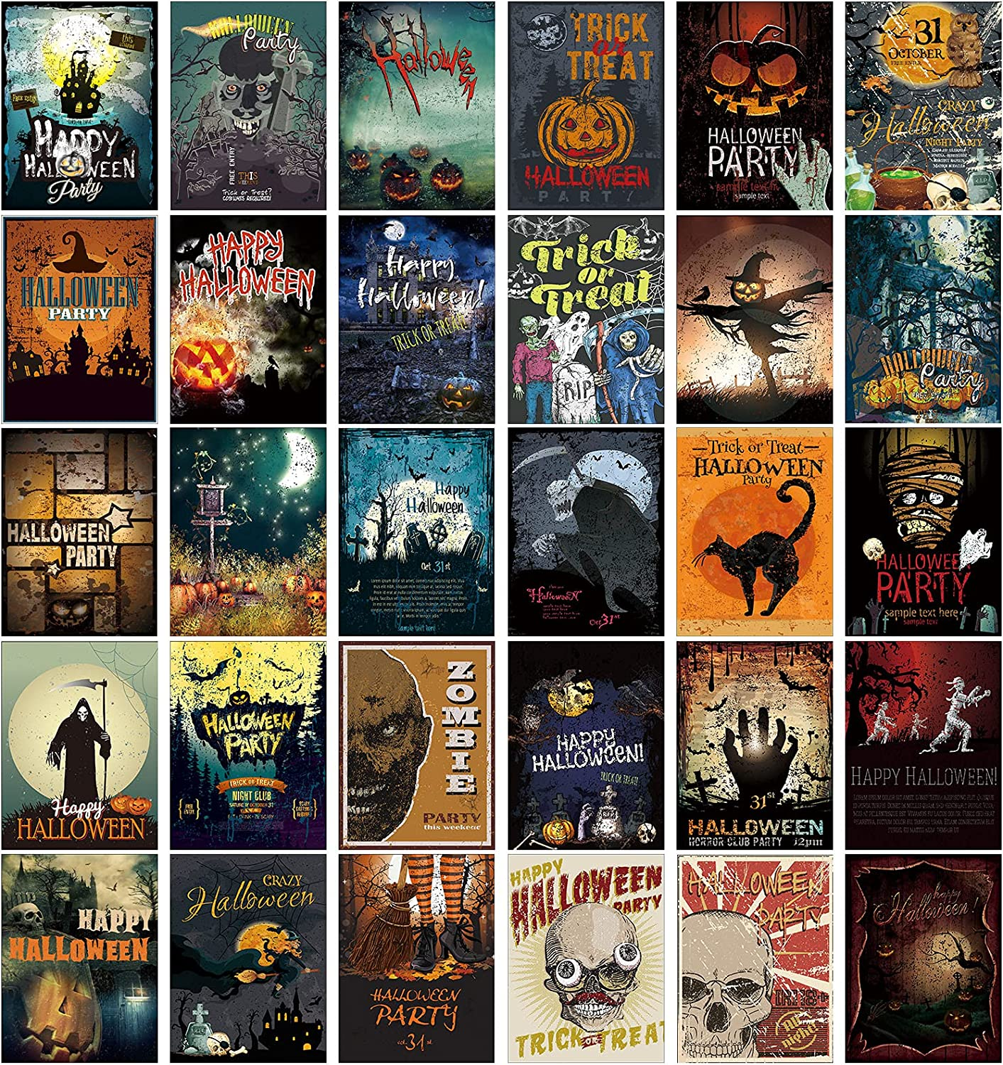 30 Pieces Vintage Postcards Scary Halloween Special Topics on TV sale item
