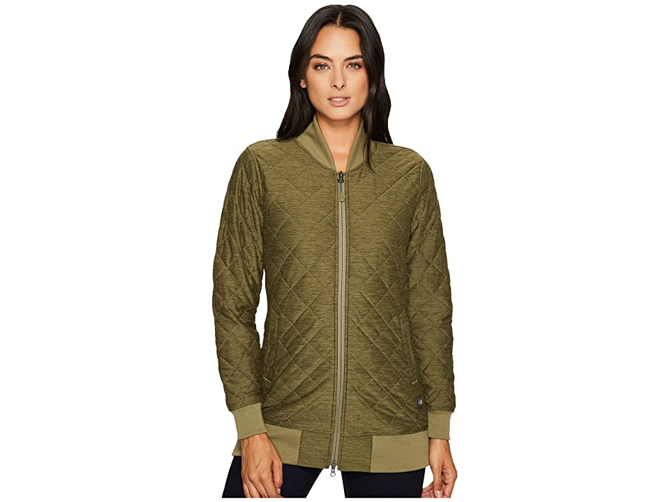 The North Face Mod Bomber Jacket (Burnt Olive Green Heather) Women