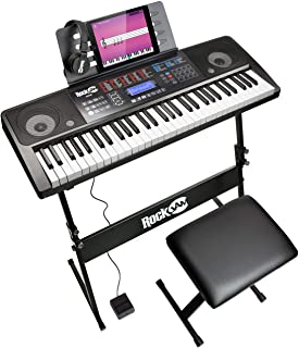 RockJam 61 Key Keyboard Piano With Touch Display Kit, Keyboa