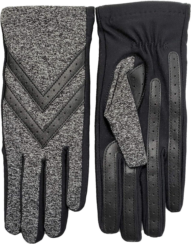 Isotoner Women's smartDRI Chevron Shortie Touchscreen Gloves - 30016