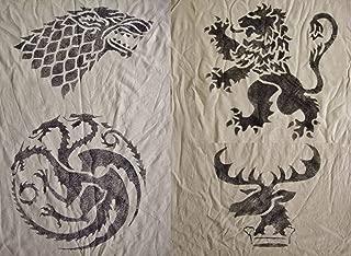 Game of Thrones Inspired Handmade Stencils. House Targaryen. House Stark.House Lannister.House Baratheon Sigils
