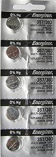 Energizer 357-303 1.55v SR44SW SR44W LR44 Watch/Calculator 0% Hg Mercury Free silver Ox Batteries (40 Pack)