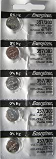 Energizer 357-303 1.55v SR44SW SR44W LR44 Watch/Calculator 0%Hg Mercury Free silver Ox Batteries (40 Pack)