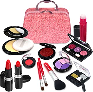 ROKKES Cosmetic Toy Cosmetic Toy set - Realistic Toys Makeup Set Kids Cosmetics, Safe & Non-Toxic Toy Makeup Girl Birthday Gift for 4-10 Year Old Girls Fit Role-Play,Ideal Birthday and Christmas Giftc