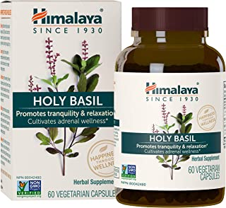 Himalaya Holy Basil for Stress and Immune System Support 60 Vegetarian Caps