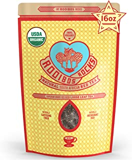 Sponsored Ad - Rooibos Tea Immune Support Loose Leaf - 16 oz USDA Organic Non GMO Naturally Caffeine Free South African Re...