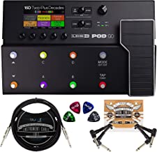 Line 6 POD Go Amp Modeler Multi-FX Processor Bundle with Blucoil 2-Pack of 10-FT Straight Instrument Cables (1/4in), 2-Pac...