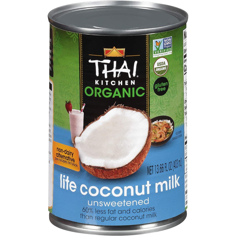 Thai Kitchen Organic Unsweetened Lite Coconut Max 55% OFF Milk New York Mall fl 13.66 oz