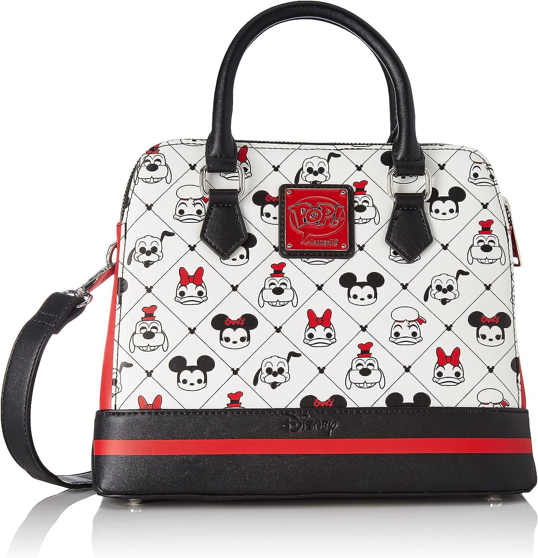 Loungefly POP Disney Sensational 6 Characters All Over Print Crossbody Purse Handbag